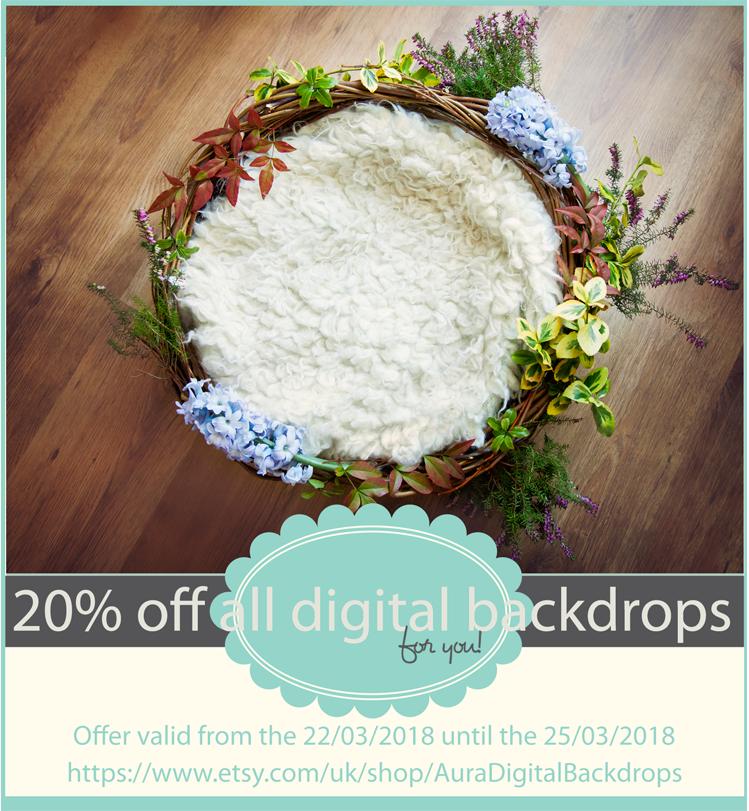Digital Backdrop Easter Sale